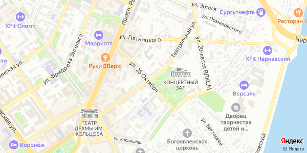 Театральная Улица в Воронеже