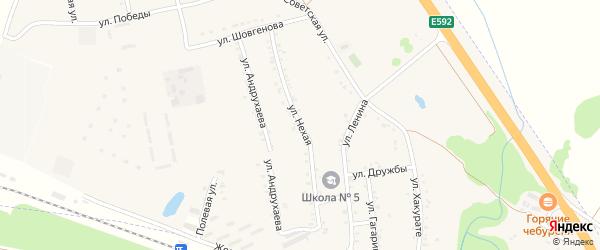 Д.Нехая улица на карте хутора Псекупса с номерами домов