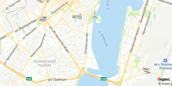 Петровская Набережная в Воронеже