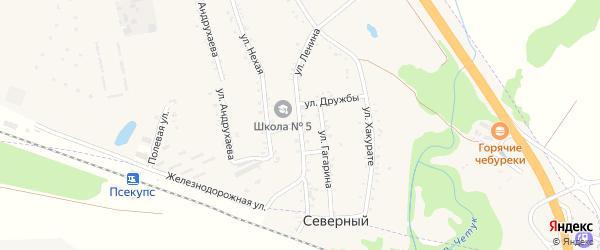 Улица Ленина на карте хутора Псекупса с номерами домов