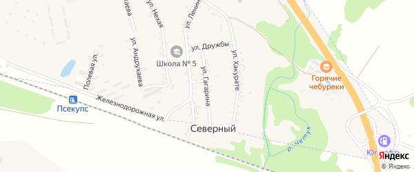 Улица Гагарина на карте хутора Псекупса с номерами домов