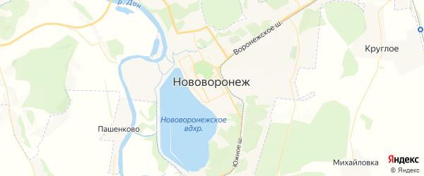 Карта Нововоронежа с районами, улицами и номерами домов