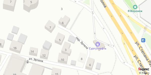 Эртеля Переулок в Воронеже