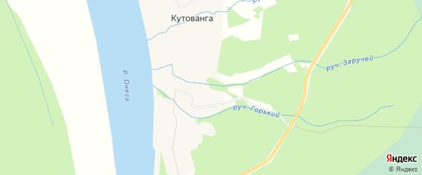 Карта деревни Кутованги в Архангельской области с улицами и номерами домов