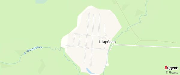 Карта поселка Ширбово в Архангельской области с улицами и номерами домов