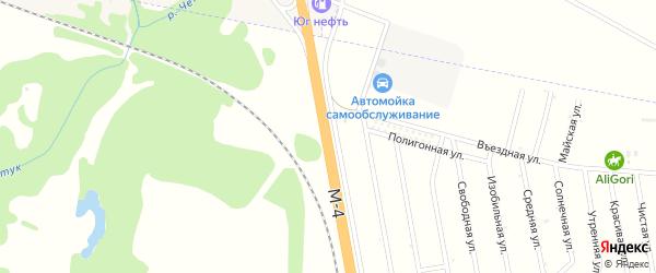 Дорога А/М М-4 ДОН на карте хутора Казазово с номерами домов