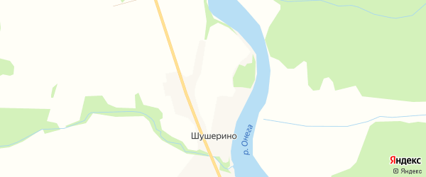 Карта деревни Шушерино в Архангельской области с улицами и номерами домов
