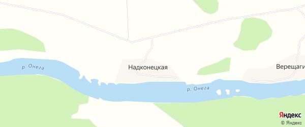 Карта Надконецкой деревни в Архангельской области с улицами и номерами домов
