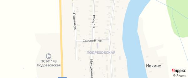 Садовый переулок на карте Усачевской деревни с номерами домов