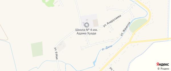 Улица Гагарина на карте аула Гатлукая с номерами домов