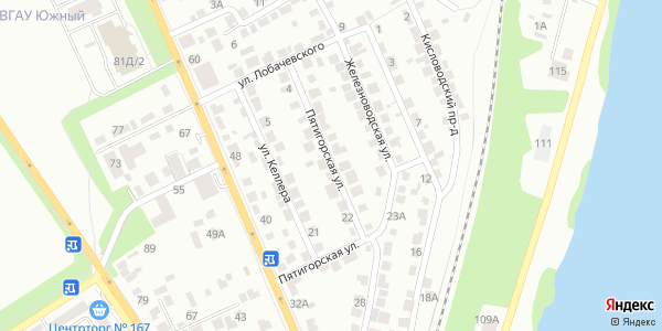 Пятигорская Улица в Воронеже