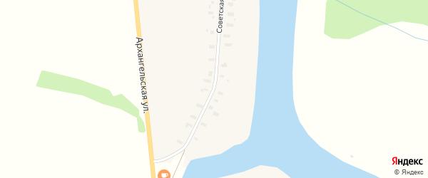 Архангельская улица на карте деревни Бронево с номерами домов
