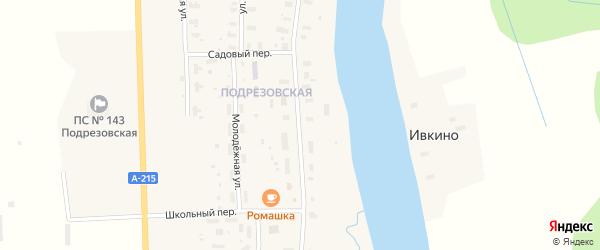 Советская улица на карте Усачевской деревни с номерами домов