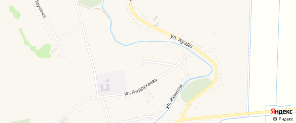 Улица Андрухаева на карте аула Гатлукая с номерами домов