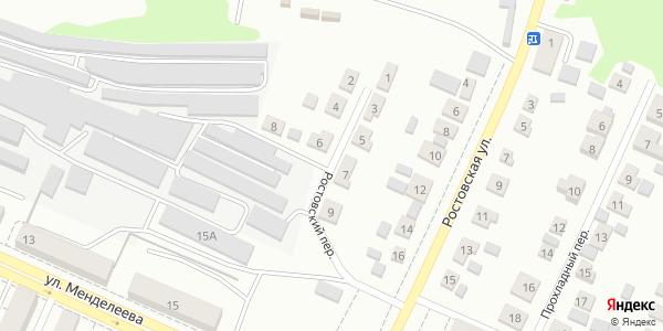 Ростовский Переулок в Воронеже