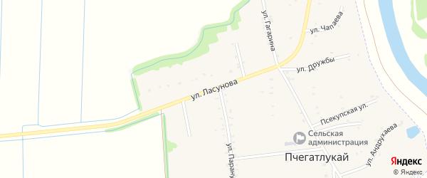 Улица Ласунова на карте аула Пчегатлукая с номерами домов