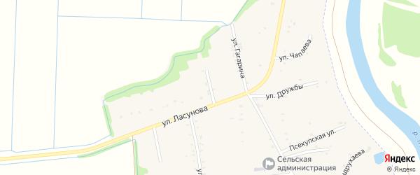 Кубанская улица на карте аула Пчегатлукая с номерами домов