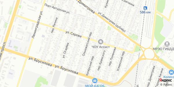 Ольховатский Переулок в Воронеже