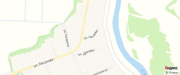 Улица Чапаева на карте аула Пчегатлукая с номерами домов