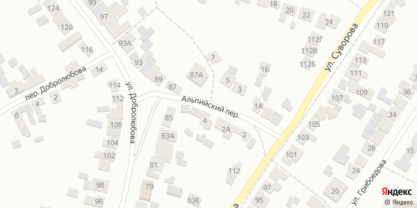 Альпийский Переулок в Воронеже