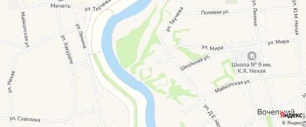 Адыгейская улица на карте Вочепший аула с номерами домов