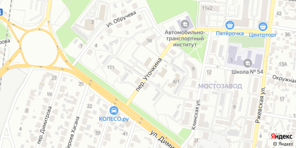 Уточкина Переулок в Воронеже