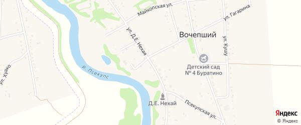 Д.Е.Нехая улица на карте Вочепший аула с номерами домов