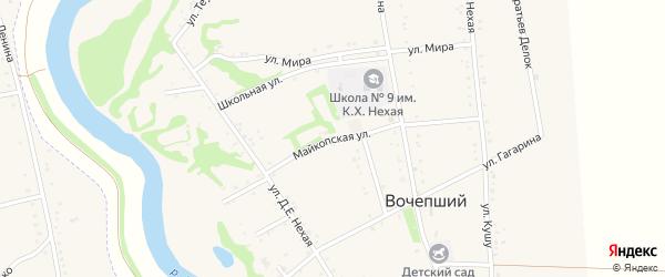 Майкопская улица на карте Вочепший аула с номерами домов