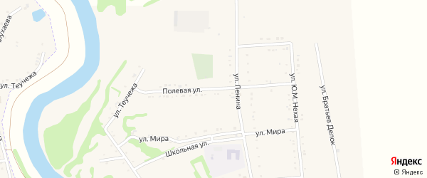 Полевая улица на карте садового некоммерческого товарищества Радуги с номерами домов