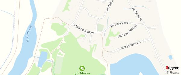 Крестьянский переулок на карте Вочепший аула с номерами домов