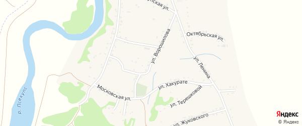 Улица Ворошилова на карте Вочепший аула с номерами домов
