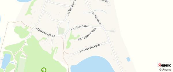 Улица Терешковой на карте Вочепший аула с номерами домов