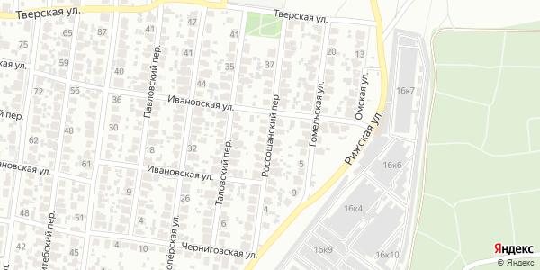 Россошанский Переулок в Воронеже