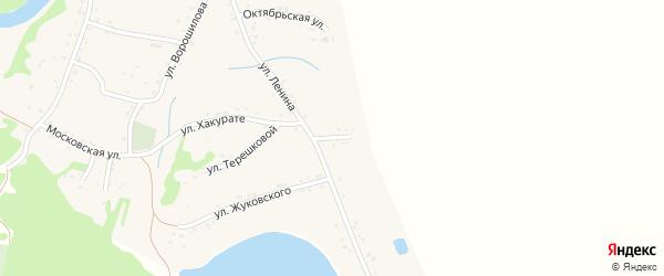 Улица Янковского на карте Вочепший аула с номерами домов