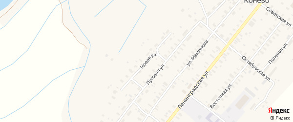 Новая улица на карте села Конево с номерами домов