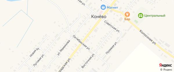Восточная улица на карте села Конево с номерами домов