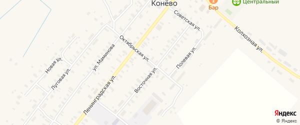 Октябрьская улица на карте села Конево с номерами домов