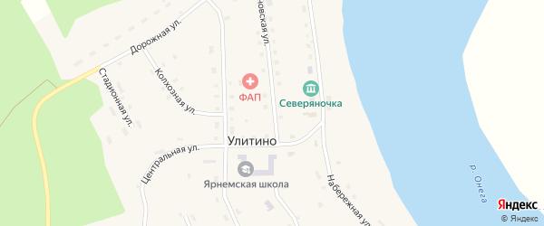 Стахановская улица на карте поселка Улитино с номерами домов