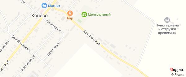 Колхозная улица на карте села Конево с номерами домов