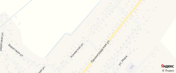 Коневская улица на карте села Конево с номерами домов
