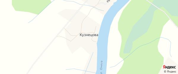 Карта деревни Кузнецова в Архангельской области с улицами и номерами домов