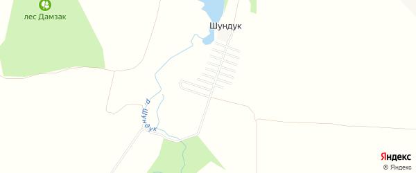 Карта хутора Шундука в Адыгее с улицами и номерами домов