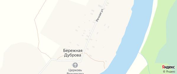 Речная улица на карте деревни Бережная Дуброва с номерами домов