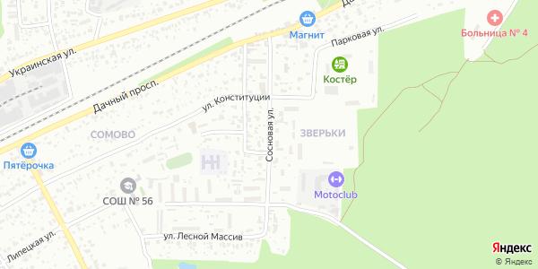 Сосновая Улица в Воронеже