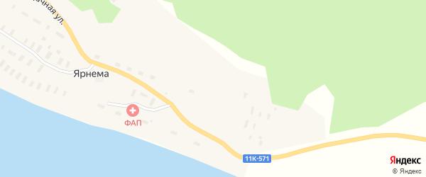 Дачная улица на карте деревни Ярнема с номерами домов