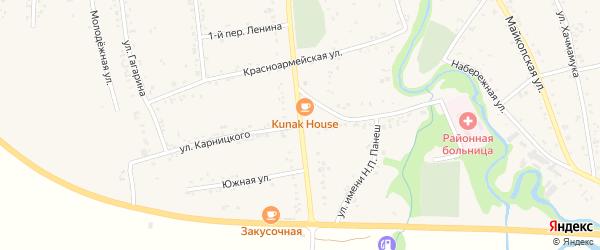 Улица Карницкого на карте аула Понежукай с номерами домов