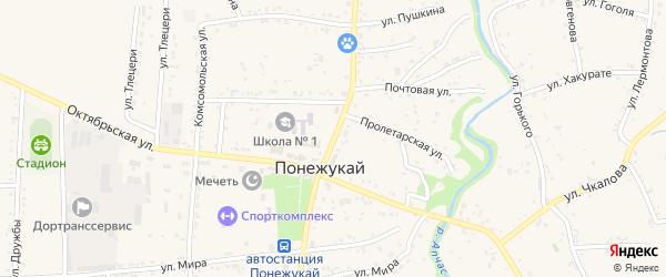 Улица Ленина на карте аула Понежукай с номерами домов