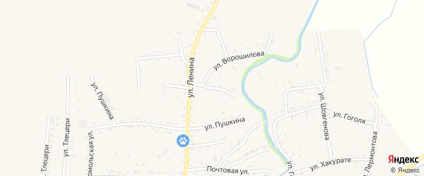 Ленина 1-й переулок на карте аула Понежукай с номерами домов