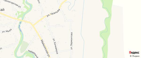 Улица Лермонтова на карте аула Понежукай с номерами домов