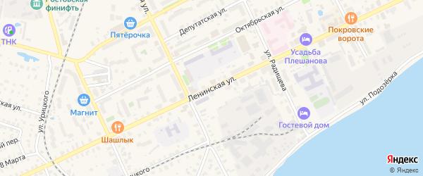 Ленинская улица на карте Ростова с номерами домов